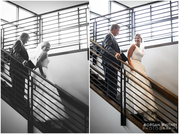 First look with bride and her father at The Grand Event Center in Grandview, Ohio_0002