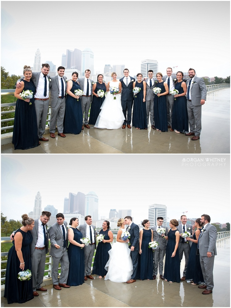 Wedding photography on main street bridge in Columbus, Ohio_0004