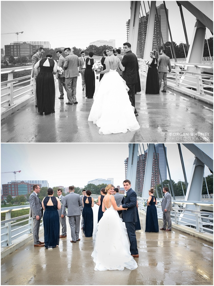 Wedding photography on main street bridge in Columbus, Ohio_0005