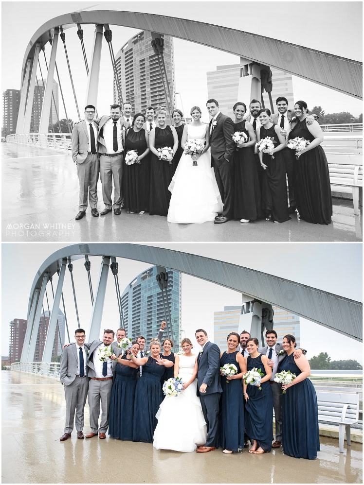 Wedding photography on main street bridge in Columbus, Ohio_0006