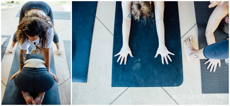 Melissa Petty doing yoga before her wedding